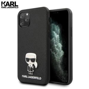 Karl Lagerfeld Saffiano Ikonik Maskica za iPhone 11 Pro – Crna