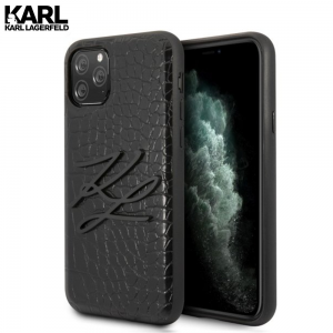 Karl Lagerfeld Black Croco maskica za iPhone 11 Pro