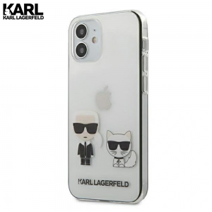 Karl Lagerfeld Karl & Choupette Transparent maskica za iPhone 12 Mini