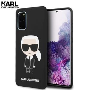 Karl Lagerfeld Silicone Ikonik maskica za Galaxy S20 Plus – Crna