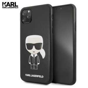 Kožna Etui Karl Lagerfeld Maskica za iPhone 11 Pro Max – Crna