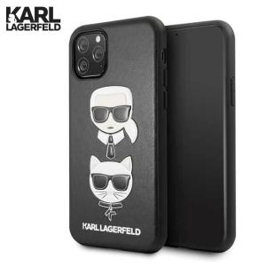 Kožna Karl Lagerfeld Maskica za iPhone 11 Pro Max – Crna