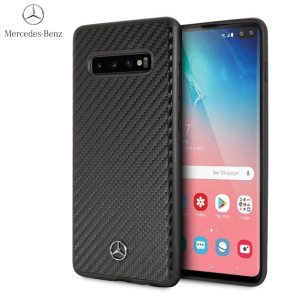 Mercedes Benz Originalna Maskica za Galaxy S10 Plus – Crna