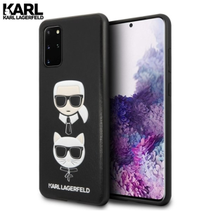 Karl Lagerfeld Hard Karl & Choupette maskica za Galaxy S20 Plus – Crna
