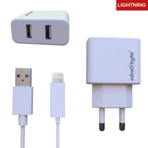Dual Usb Adapter & Lightning Kabel – Zidni punjač