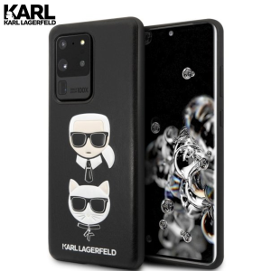 Karl Lagerfeld Hard Karl & Choupette maskica za Galaxy S20 Ultra – Crna