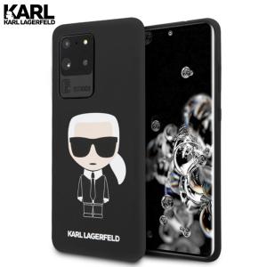 Karl Lagerfeld Silicone Ikonik maskica za Galaxy S20 Ultra – Crna