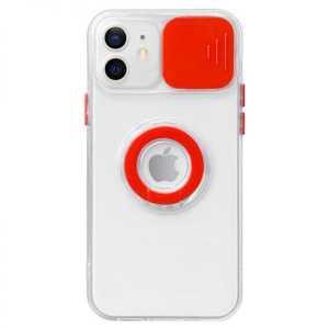 Prozirna Ring Silikonska Maskica s zaštitom za kameru za Galaxy S21 FE - Više boja