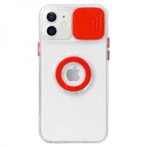 Prozirna Ring Silikonska Maskica s zaštitom za kameru za iPhone 11 Pro Max - Više boja