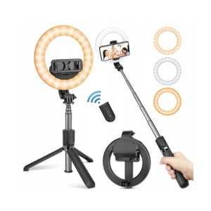 Bluetooth Selfie Stick i tronozac (tripod) s Lampom