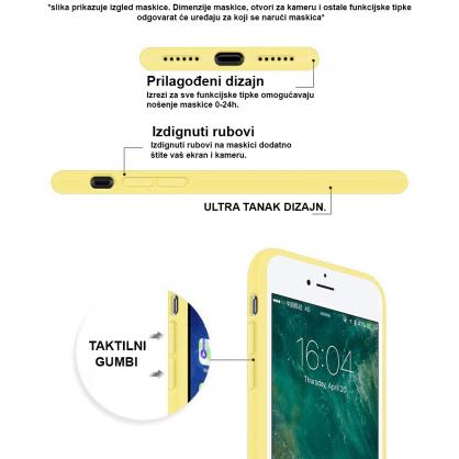 Silikonska Maskica u Više Boja za iPhone 5/5s/SE 35349