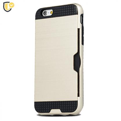 Zlatna - Defender Card Silikonska Maskica za iPhone XS Max 40528