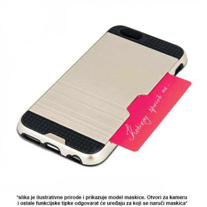 Zlatna - Defender Card Silikonska Maskica za iPhone XS Max 40529
