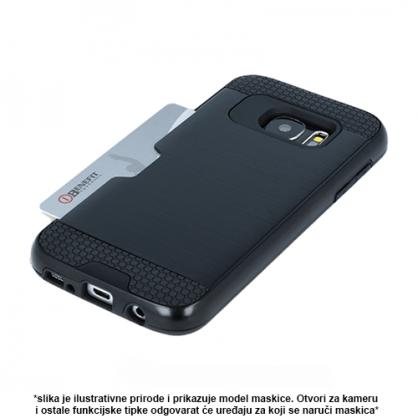 Crna - Defender Card Silikonska Maskica za iPhone XS Max 40502