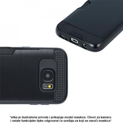 Crna - Defender Card Silikonska Maskica za iPhone XS Max 40503
