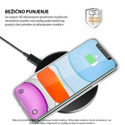 3D Obostrana Prozirna Maskica za iPhone 11 Pro Max 34183