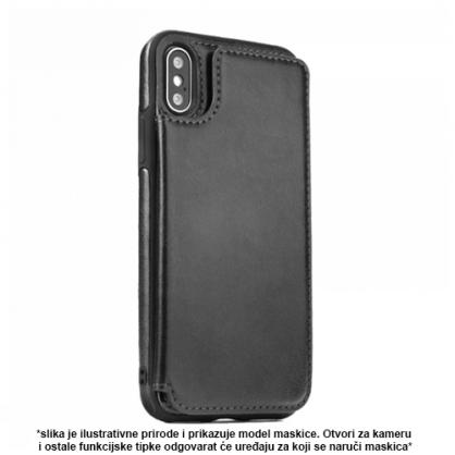 Futrola od Eko Kože sa Magnetom za iPhone XS Max - Crna 41323
