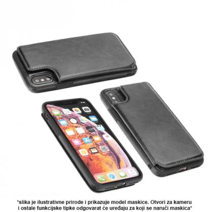 Futrola od Eko Kože sa Magnetom za iPhone XS Max - Crna 41322