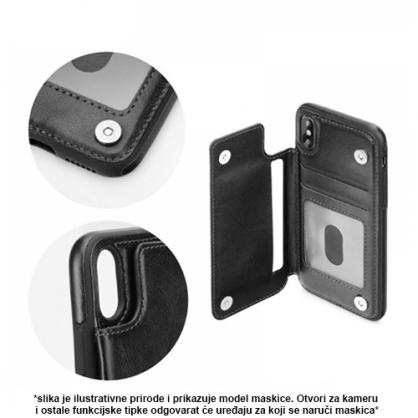 Futrola od Eko Kože sa Magnetom za iPhone XS Max - Crna 41325