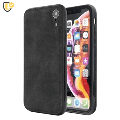 Crna Silikonska Denim Maskica za iPhone XS Max 40706