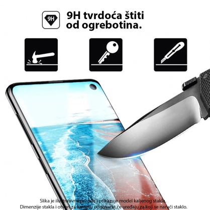 3D Zaobljeno Kaljeno Staklo za P Smart Plus (2019) / Honor 20 Lite 34000