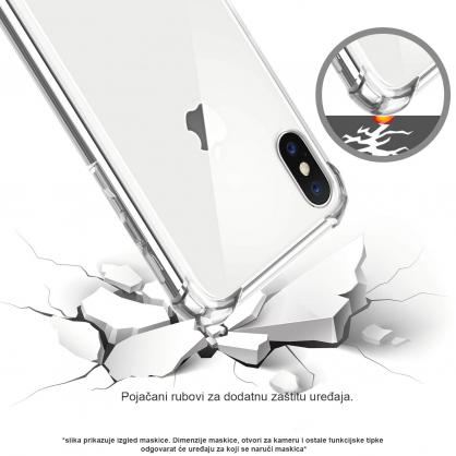 Silikonska Prozirna Anti-Shock Maskica za P Smart (2019) / Honor 10 Lite 35463