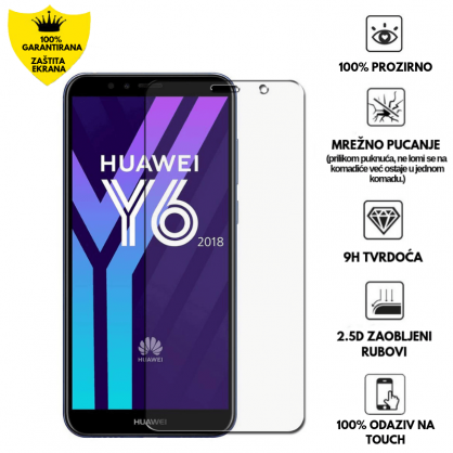 Kaljeno Staklo / Staklena Folija za Huawei Y6 2018 17554