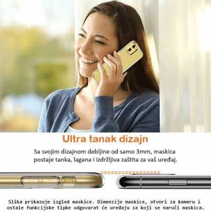Ultra tanka Prozirna Silikonska maskica za Lumia 550 127690