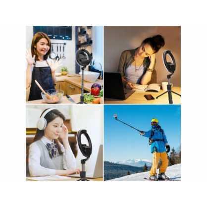 Bluetooth Selfie Stick i tronozac (tripod) s Lampom 131546