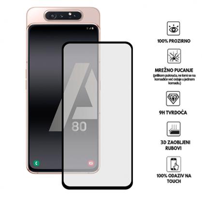 3D Zaobljeno Kaljeno Staklo za Galaxy A80 34026