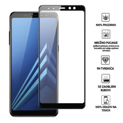 3D Zaobljeno Kaljeno Staklo za Galaxy A8 / A5 (2018) 34030