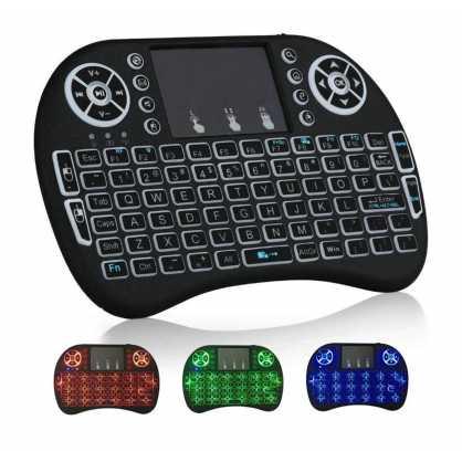 Mini bežična Tipkovnica s Touchpad-om i osvjetljenjem za TV - Crna 132363