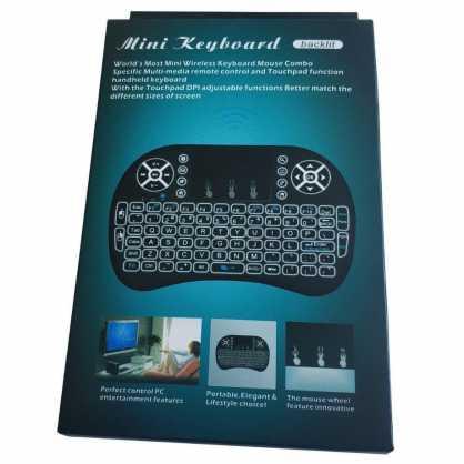 Mini bežična Tipkovnica s Touchpad-om i osvjetljenjem za TV - Crna 129852