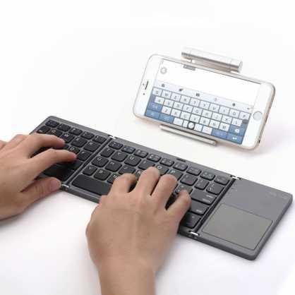 2u1 Bluetooth preklopna Tipkovnica s Touchpad-om - Crna 129818