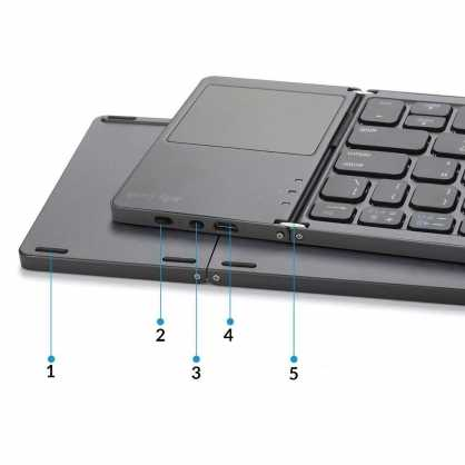2u1 Bluetooth preklopna Tipkovnica s Touchpad-om - Crna 129823