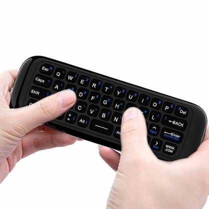 3u1 Univerzalni daljinski upravljač s bežičnom tipkovnicom i mišom za TV - Crni 129831