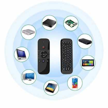 3u1 Univerzalni daljinski upravljač s bežičnom tipkovnicom i mišom za TV - Crni 129834