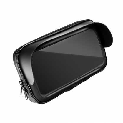 """Univerzalni Držač/nosač Mobitela za motor / skuter vodootporan s zip zatvaračem i kapuljačom 5.5"""" - 6.3"""" 130322"""