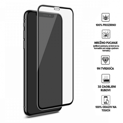 3D Zaobljeno Kaljeno Staklo za iPhone XR 34100