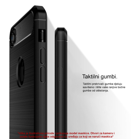 Silikonska Carbon Maskica za Galaxy Note 10 Plus 39374