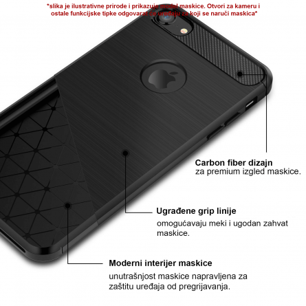 Silikonska Carbon Maskica za Galaxy S8 Plus 39410