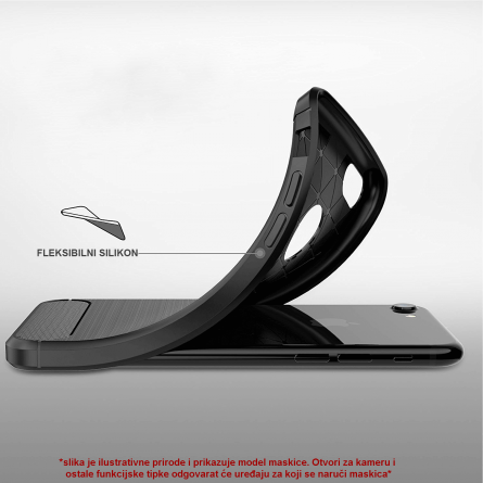 Silikonska Carbon Maskica za Galaxy A40 39291