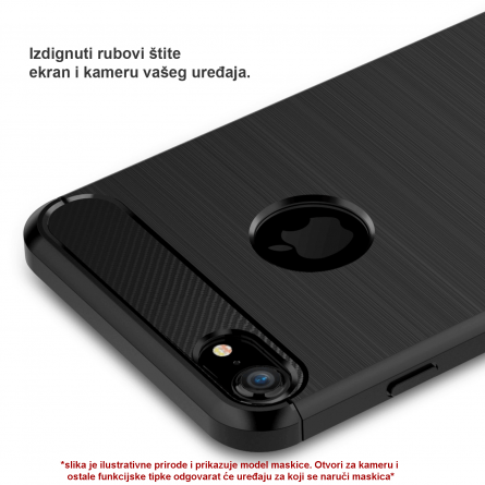 Silikonska Carbon Maskica za iPhone 6/6s 39488