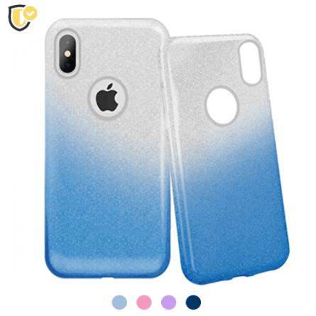 3u1 Dvobojna Maskica sa Šljokicama za iPhone X/XS - Više boja 38468