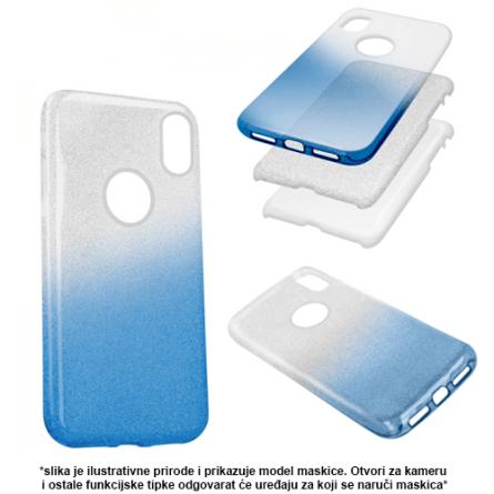 3u1 Dvobojna Maskica sa Šljokicama za iPhone XS Max - Više boja 38481