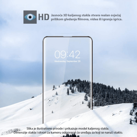 3D Zaobljeno Kaljeno Staklo za Galaxy A9 (2018) 33973