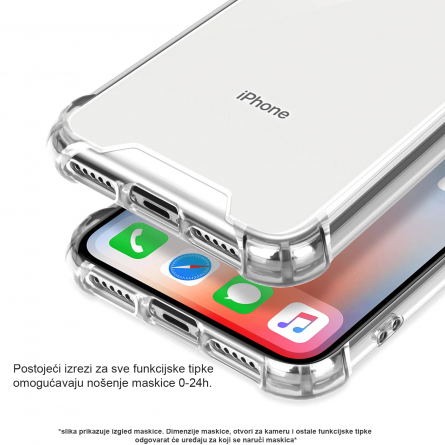 Silikonska Prozirna Anti-Shock Maskica za iPhone 11 35402