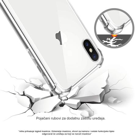Silikonska Prozirna Anti-Shock Maskica za iPhone 7/8 35473
