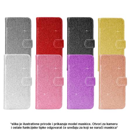 Glitter Preklopna maskica za Galaxy A7 (2018) - Više boja 38185