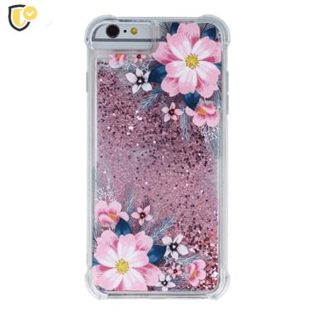 Liquid Pink Flower Silikonska Maskica za Galaxy S9 Plus 37947